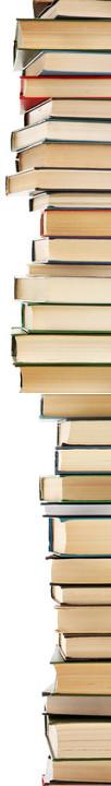 Bücherstapel mit Messie Literatur